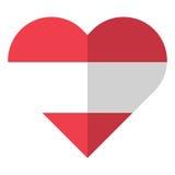 Austria flat heart flag Royalty Free Stock Photo