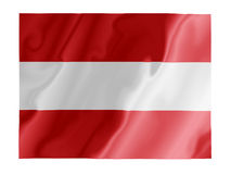 Austria fluttering. Fluttering image of the Austrian national flag Stock Image