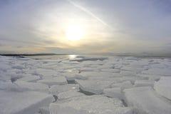 Austria frozen lake Stock Photo