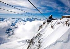 austria gandola hintertux stacja Fotografia Royalty Free