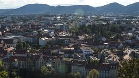Austria.Graz. Church Mariahilf and square in center city royalty free stock images