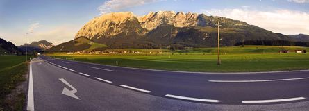 Austria Grimming panorama Royalty Free Stock Images