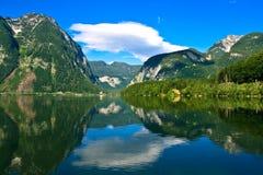 austria gromadzki hallstatter jezioro widzii Fotografia Stock