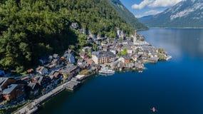 Austria Hallstatt piękny jeziorny Hallstattlake obraz stock