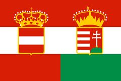 Austria hungary flag Royalty Free Stock Photo