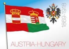Austria i dziejowa flaga grzebień i ilustracja wektor