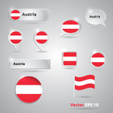 Austria icon set of flags Stock Photography