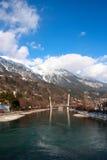 Austria, Innsbruck, River Inn. River Inn in Austria, Innsbruck, 05-01-2011 Royalty Free Stock Photos