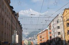 Austria. Innsbruck view - beautiful mountain near the town Stock Photo