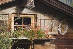 Austria, Karwendel, Log cabin Stock Image