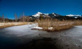 Austria - Kitzbuheler Horn and Lake Schwarzsee Royalty Free Stock Images