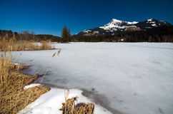 Austria - Kitzbuheler Horn and Lake Schwarzsee Royalty Free Stock Photography
