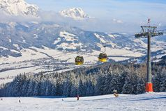 austria kurortu Schladming narta Austria Fotografia Royalty Free