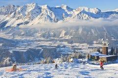 austria kurortu Schladming narta Austria Obraz Royalty Free