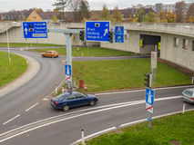 Austria, linz, city highway. Tunnel for noise calming the binder michel on motorway a7 stock photos