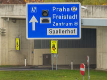 Austria, linz, city highway. Tunnel for noise calming the binder michel on motorway a7 stock images