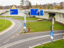 Austria, linz, urban motorway. Austria, linz, highway. tunnel for noise calming the binder michel on the a7 motorway royalty free stock photos