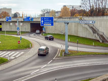 Austria, linz, urban motorway. Austria, linz, highway. tunnel for noise calming the binder michel on the a7 motorway stock photography