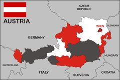 Austria Map Stock Images