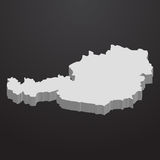 Austria map in gray on a black background 3d Stock Images