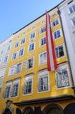 austria miejsce narodzin Mozart s Salzburg Zdjęcia Royalty Free