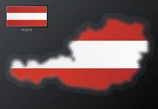 Austria modern halftone Stock Image