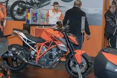 Austria motocyklu KTM Super diuk R 1290 przy Motosalon 2016 Fotografia Stock