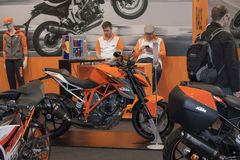 Austria motocyklu KTM Super diuk R 1290 przy Motosalon 2016 Obrazy Stock