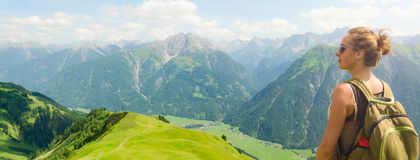 Austria mountain view Stock Images