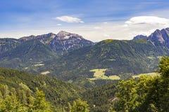 Austria Mountains Summer Landscape Lesachtal Gailtal  Nature Royalty Free Stock Images