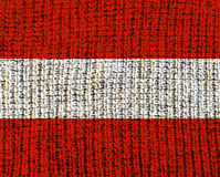 Austria wełna Textured flaga zdjęcie stock