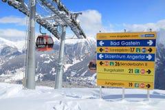 Austria narciarski dźwignięcie Zdjęcie Royalty Free