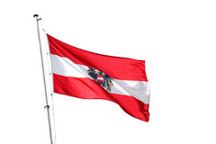 Austria national flag Royalty Free Stock Photography