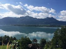 Austria. Nice view of big lake in Stock Image