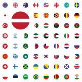 Austria ound flag icon. Round World Flags Vector illustration Icons Set. Austria ound flag icon. Round World Flags Vector illustration Icons Set Stock Image