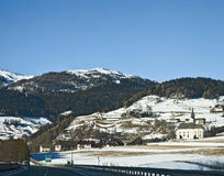 Austria, Panoramic winter view along the A10 motorway from Villa Royalty Free Stock Images