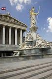 Austria Parliament, Vienna stock images