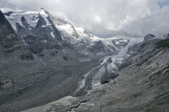 Austria Pasterze glacier panorama melt Stock Images
