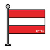 Austria patriotic flag isolated icon Royalty Free Stock Images