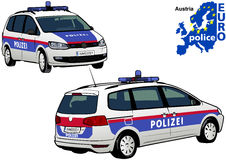 Austria Police Car. Colored Illustration from Series Europol, Vector Stock Images