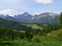 Austria-prospettiva delle alpi Fotografia Stock