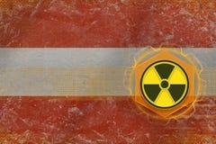 Austria radioactive threat. Radiation hazard concept. Royalty Free Stock Photos