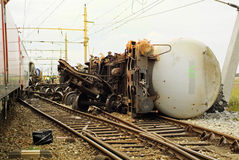 Austria_Railway Accident Stock Photo