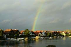 Austria_Rainbow stock fotografie