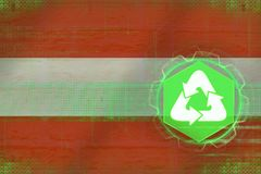 Austria recycling. Ecology concept. Royalty Free Stock Image