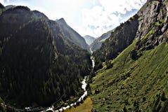 Austria river drone Stock Image