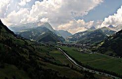 Austria river drone Royalty Free Stock Photo