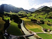 Austria river drone Stock Photo