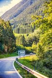 Austria road between mountains Royalty Free Stock Image