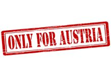 Only for Austria. Rubber stamp with text only for Austria inside,  illustration Royalty Free Stock Photography